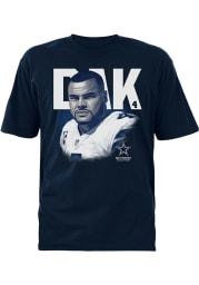 Dak Prescott Dallas Cowboys Navy Blue Hayden Short Sleeve Player T Shirt