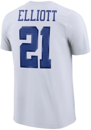 Ezekiel Elliott Dallas Cowboys White Player Pride Short Sleeve Player T Shirt