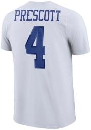 Dak Prescott Dallas Cowboys White Player Pride Short Sleeve Player T Shirt
