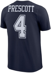 Dak Prescott Dallas Cowboys Navy Blue Player Pride 3 Short Sleeve Player T Shirt