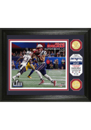 New England Patriots Super Bowl LIII MVP Bronze Coin Photo 12x20 Picture Frame