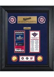 Washington Nationals 2019 World Series Champions Gold Coin Ticket Plaque
