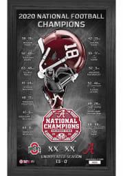 Alabama Crimson Tide 2020 Football National Champion Panoramic Plaque