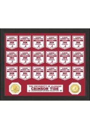 Alabama Crimson Tide Bronze Coin Banner Plaque