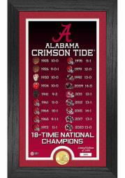 Alabama Crimson Tide 18 Time National Champion Legacy Coin Photo Mint Plaque
