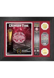 Alabama Crimson Tide 2020 Football National Champion Banner Coin Photo Mint Plaque
