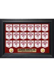 Alabama Crimson Tide Gold Coin Deluxe Banner Plaque