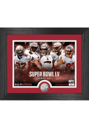 Tampa Bay Buccaneers Super Bowl LV Team Force Silver Coin Plaque