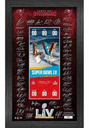 Tampa Bay Buccaneers Super Bowl LV Signature Ticket Plaque