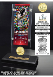 Tampa Bay Buccaneers Super Bowl LV Champions Acrylic Display Ticket Mint Collectible Coin