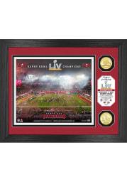 Tampa Bay Buccaneers Super Bowl LV Champions Celebration Bronze Coin Photo Mint Plaque