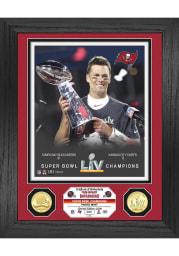 Tom Brady Tampa Bay Buccaneers Super Bowl LV Champion Trophy Bronze Coin Photo Mint Plaque