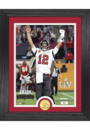 Tom Brady Tampa Bay Buccaneers Super Bowl LV Champion Bronze Coin Photo Mint Plaque