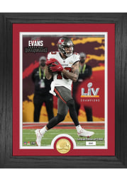 Mike Evans Tampa Bay Buccaneers Super Bowl LV Champion Bronze Coin Photo Mint Plaque