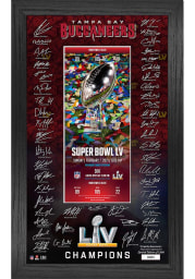 Tampa Bay Buccaneers Super Bowl LV Champs Signature Ticket Plaque