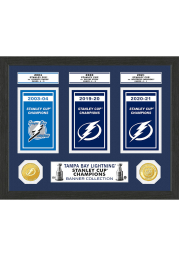 Tampa Bay Lightning Stanley Cup Champions Banner Photo Mint Plaque