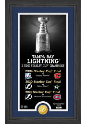 Tampa Bay Lightning Stanley Cup Champions Bronze Coin Legacy Plaque