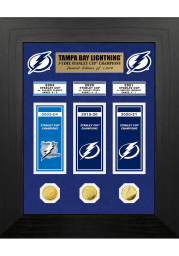 Tampa Bay Lightning Stanley Cup 3-Time Champions Banner Coin Plaque