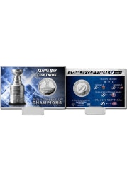 Tampa Bay Lightning 2021 Stanley Cup Champions Silver Card Collectible Coin