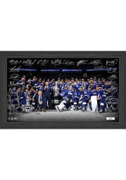 Tampa Bay Lightning 2021 Stanley Cup Champions Signature Rink Picture Frame