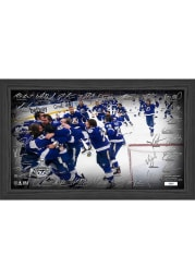 Tampa Bay Lightning 2021 Stanley Cup Champions Celebration Signature Picture Frame