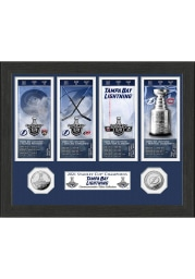 Tampa Bay Lightning 2021 Stanley Cup Champions Ticket Collection Plaque