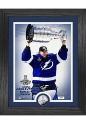 Tampa Bay Lightning 2021 Stanley Cup Andrei Vasilevskiy Trophy Coin Photo Mint Plaque