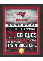 Tampa Bay Buccaneers House Rules Bronze Coin Photo Plaque
