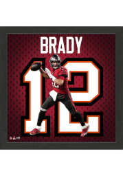 Tampa Bay Buccaneers Tom Brady Impact Jersey Picture Frame