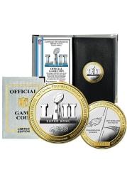 Philadelphia Eagles Gold SB LII Official Coin Collectible