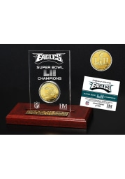Philadelphia Eagles Super Bowl LII Champions Gold Etched Acrylic Collectible Coin