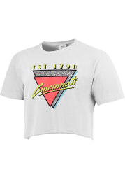 Cincinnati Women's 90s Themed Cropped Short Sleeve T-Shirt