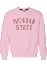 Michigan State Spartans Womens Pink Classic Crew Sweatshirt
