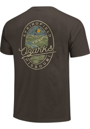 Missouri Charcoal Lake Scene Short Sleeve T Shirt