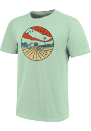 Oklahoma Green Farm Lines Short Sleeve T Shirt