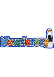 New Jersey Fun Print Magnet