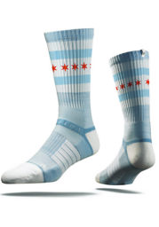 Chicago Strideline City Flag Mens Crew Socks