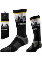 Pittsburgh Strideline Steel City View Mens Crew Socks