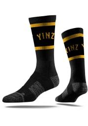 Pittsburgh Strideline Yinz Vivicolor Mens Crew Socks