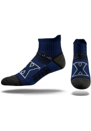 Strideline Xavier Musketeers Team Logo Mens No Show Socks
