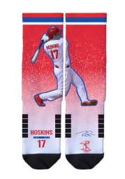 Rhys Hoskins Philadelphia Phillies Action Mens Crew Socks