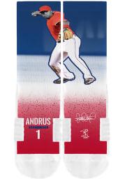 Elvis Andrus Texas Rangers Action Mens Crew Socks