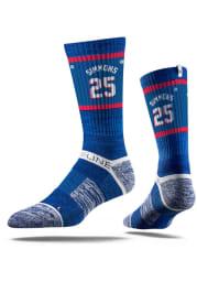 Ben Simmons Philadelphia 76ers Sherzy Mens Crew Socks