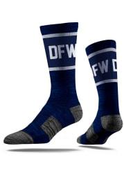 Dallas Ft Worth Strideline DFW Mens Crew Socks