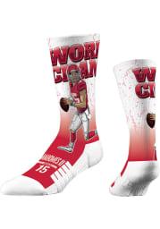 Patrick Mahomes Kansas City Chiefs World Champ Mens Crew Socks