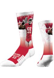 Frank Clark Kansas City Chiefs World Champ Mens Crew Socks