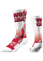 Chris Jones Kansas City Chiefs World Champ Mens Crew Socks
