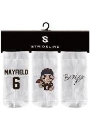 Baker Mayfield Strideline Cleveland Browns 3PK Baby Quarter Socks