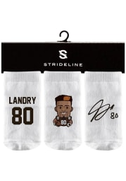 Jarvis Landry Strideline Cleveland Browns 3PK Baby Quarter Socks