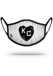 Strideline Kansas City Monarchs White Heart Fan Mask